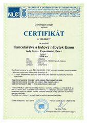 Mechanical certificate