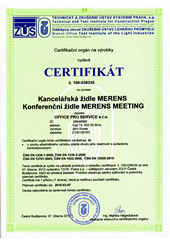 Certifikát MERENS, MEETING
