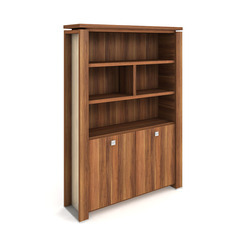 Cabinet, hinged doors + open shelves - E 5 2 03 S