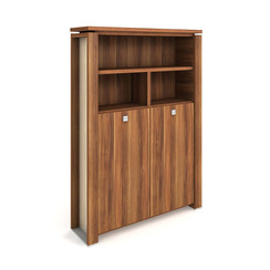 Cabinet, wardrobe + hinged doors + open shelves - E 5 2 04 S
