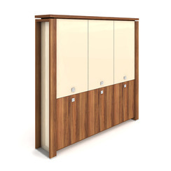 Cabinet, hinged doors + glass doors - E 5 3 01 S
