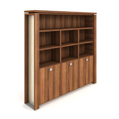 Cabinet, hinged doors + open shelves - E 5 3 02 S