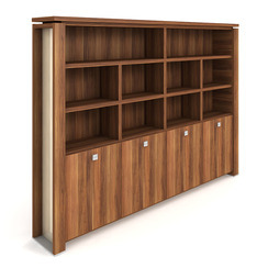 Cabinet, hinged doors + open shelves - E 5 4 02 S