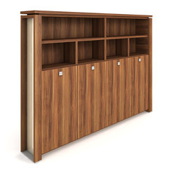 Cabinet, wardrobe + hinged doors + open shelves - E 5 4 03 S