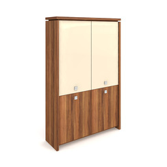 Cabinet, hinged doors + glass doors - A 5 2 02
