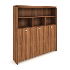 Cabinet, wardrobe + hinged doors + open shelves - A 5 3 03
