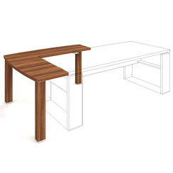Complementary desk 140x140 left - ED 1 140 L