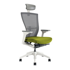 Office chair with headrest, BI 203, green - MERENS WHITE SP