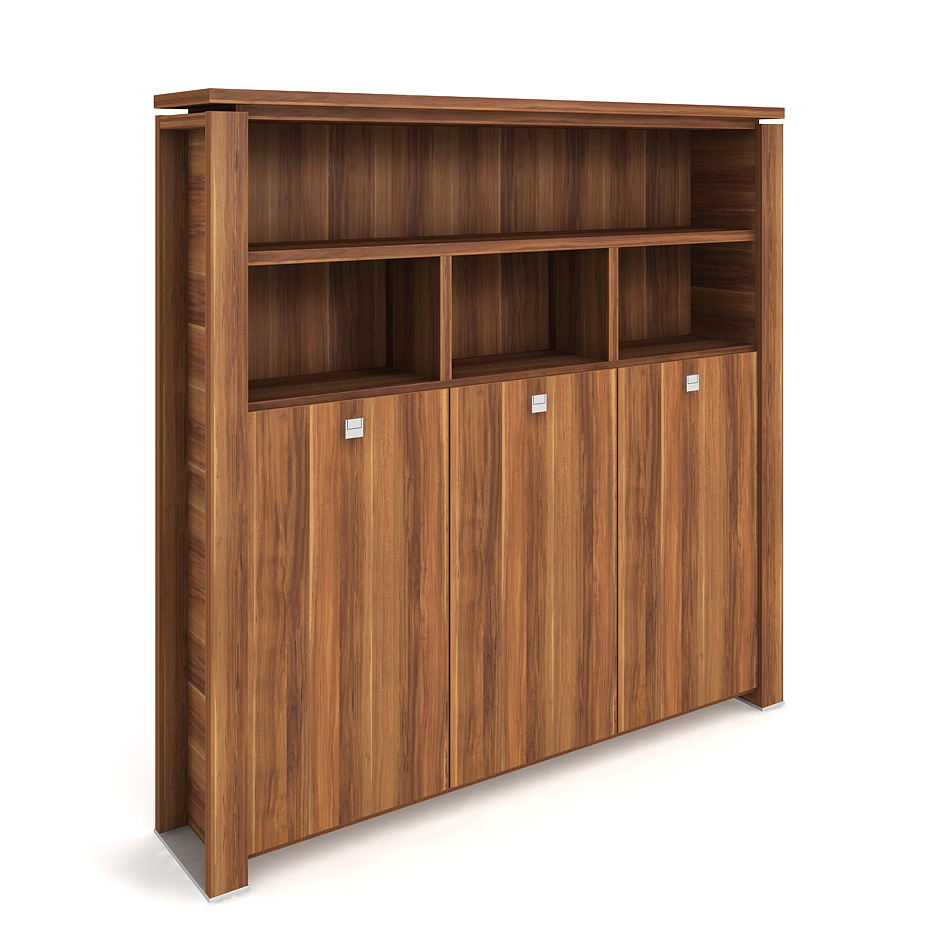 Cabinet, wardrobe + hinged doors + open shelves - E 5 3 03