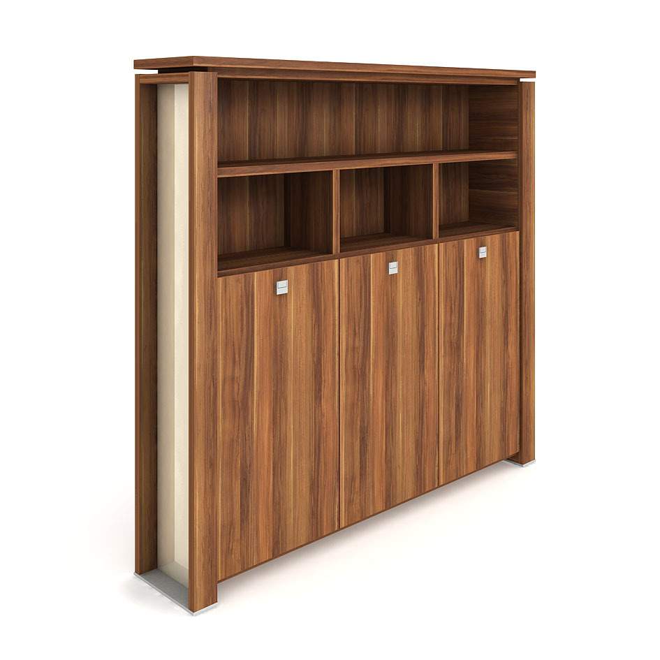 Cabinet, wardrobe + hinged doors + open shelves - E 5 3 03 S