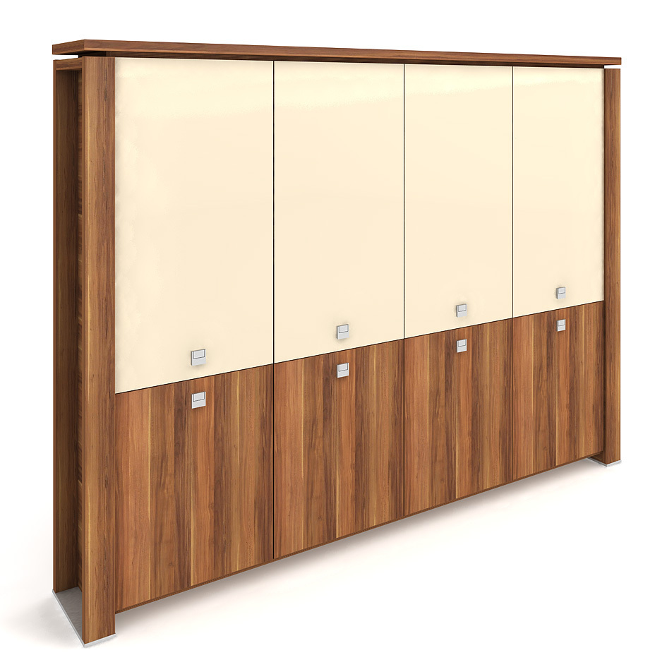 Cabinet, hinged doors + glass doors - E 5 4 01