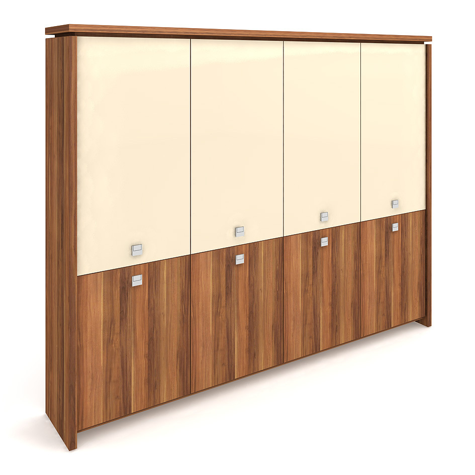 Cabinet, hinged doors + glass doors - A 5 4 01