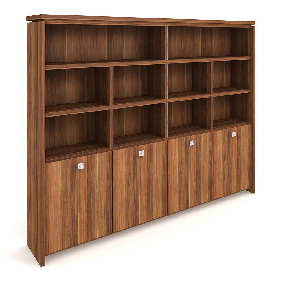 Cabinet, hinged doors + open shelves - A 5 4 02