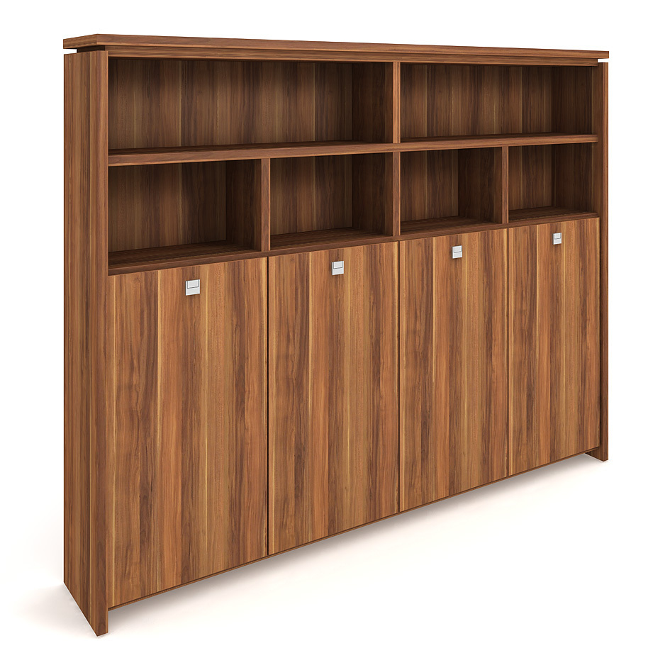 Cabinet, wardrobe + hinged doors + open shelves - A 5 4 03