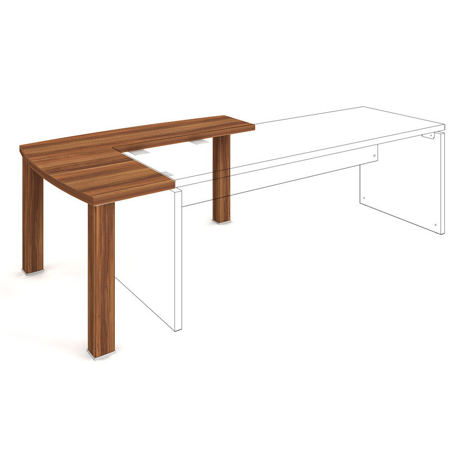 Complementary desk 140x113 left - AD 1 140 L